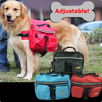 Adjustable Big Dog Saddle Backpack