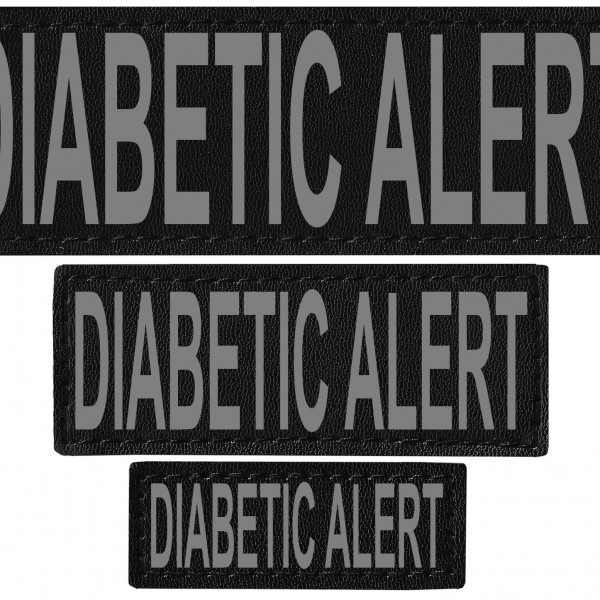 diabetic_alert-reflective dog harness patch