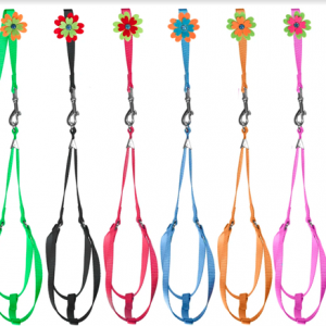 Nylon Step in Harness w flower