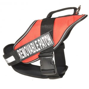 alpha_red_10 dog harness w removable patch
