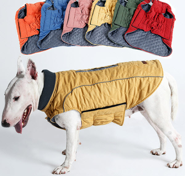 Cozy winter dog pet jacket hefty hounds