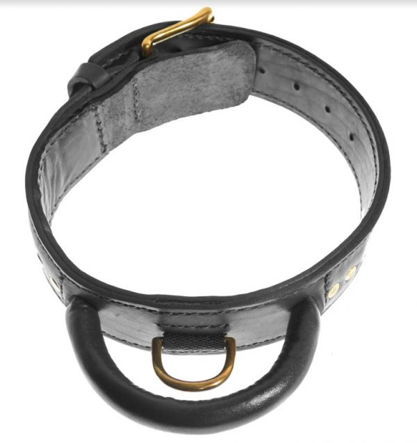 viper two-ply leather collar black